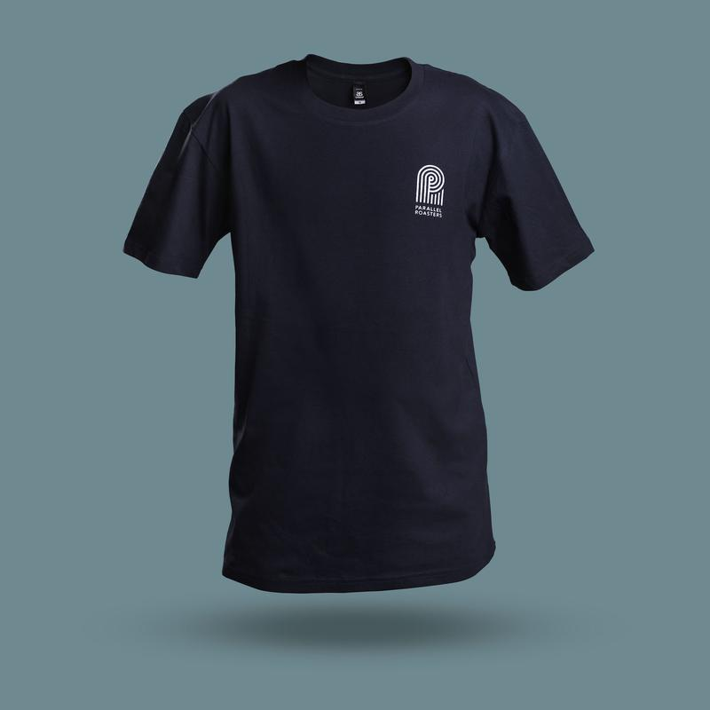 navy t shirt with professional logo design brisbane