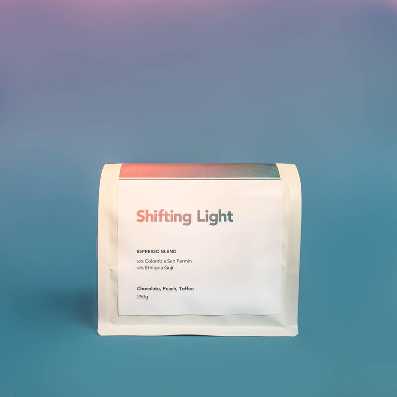 shifting light espresso blend | graphic designer brisbane