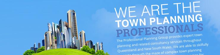 Professional Planning Group website header | web design company Brisbane.