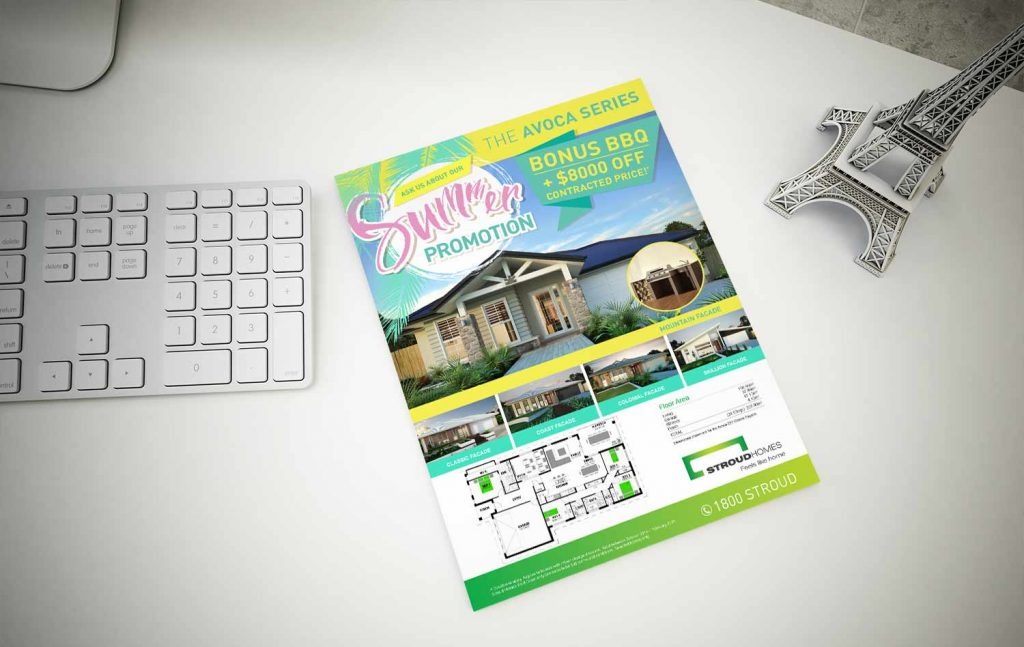 Stroud home summer promotion flyer design