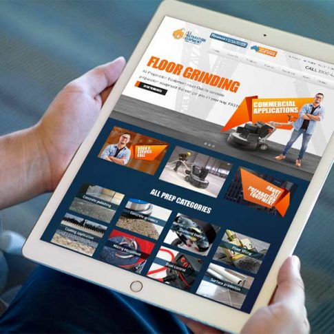 All Preparation Equipment Website Design displayed on a tablet