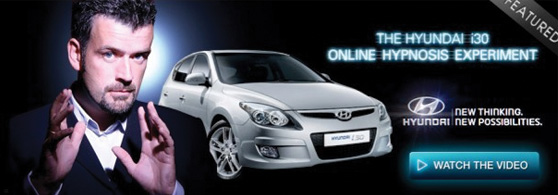 Man shows off new Hyundai advertisement for ecommerce web design Brisbane.