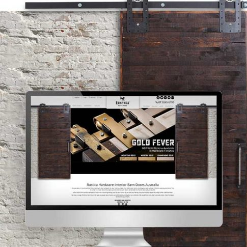 Rustica Hardware Website Design Displayed on a Mac
