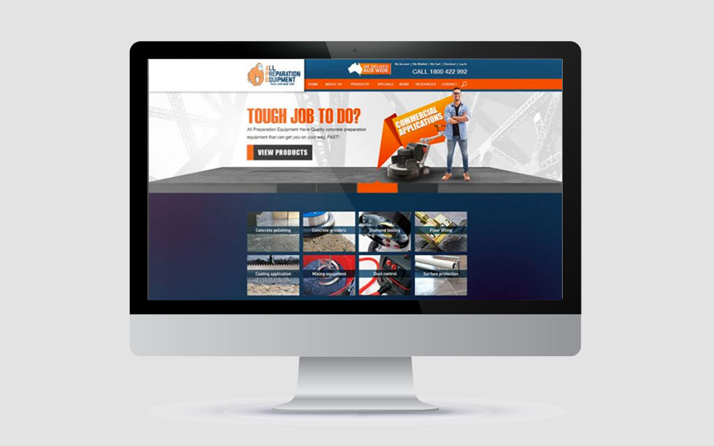 website on imac | website design brisbane