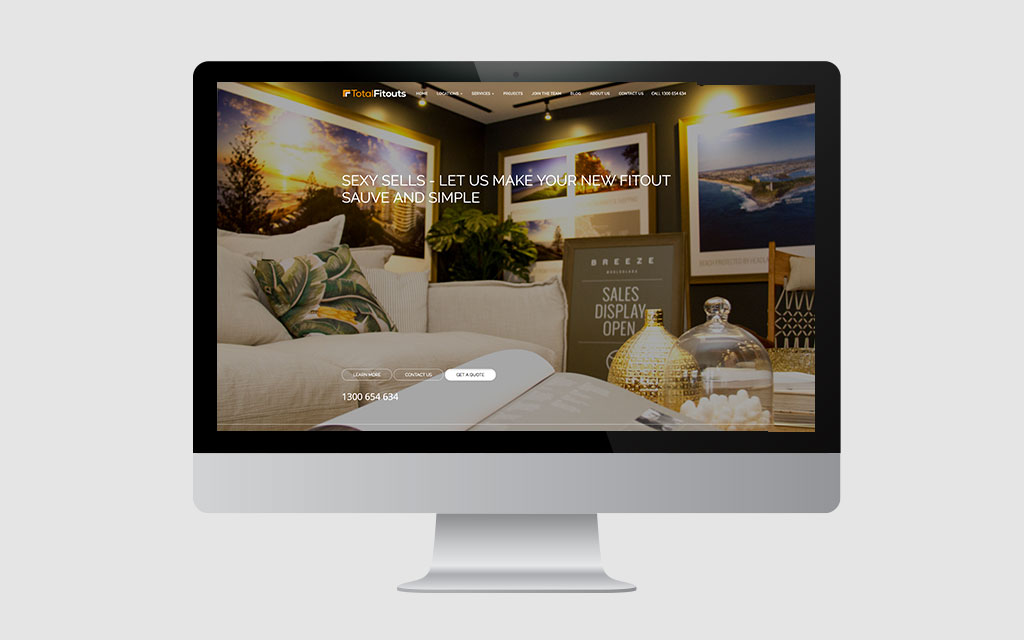 total fitouts website home page | website design brisbane