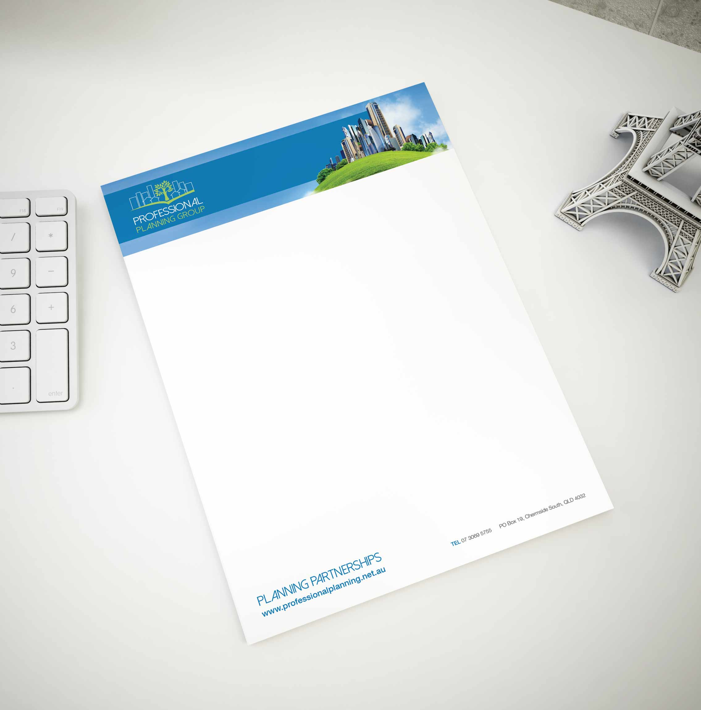 professional letterhead by graphic designer brisbane