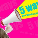 5 Ways Your Website is Killing Your Brand | Image of Doc Brown Shouting Through a Megaphone